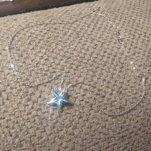 Jewelry - Sterling silver starfish pendant and necklace